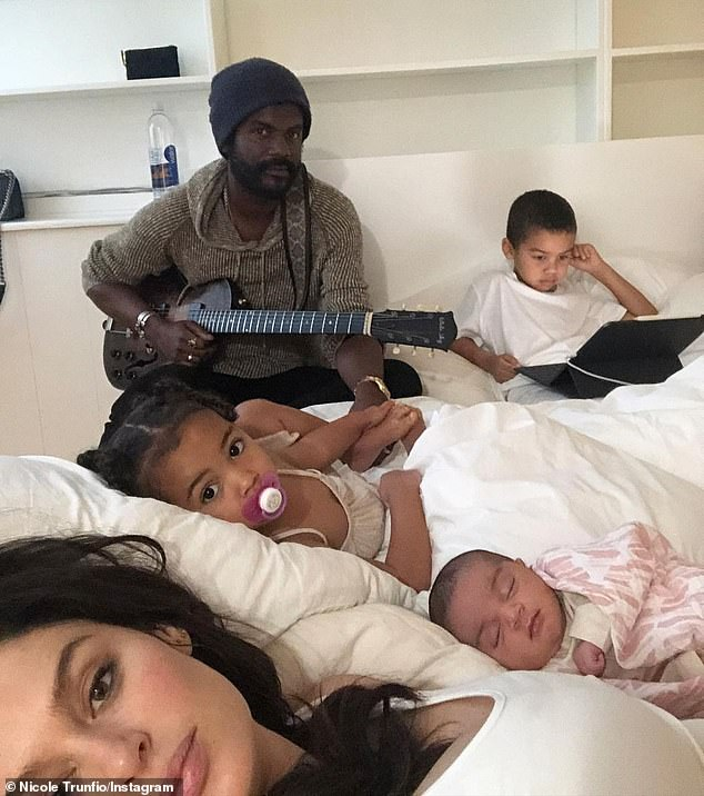 Expanding family: In addition to baby Ella, Nicole and Gary are also parents to son Zion, six, and daughter Gia, three