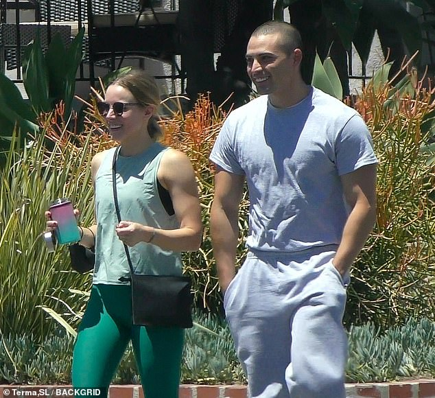 Onscreen leading man? It was the fourth public sighting of the 40-year-old Daytime Emmy-nominated producer (L) and the Guatemala-born former footballer (R), who might be playing love interests