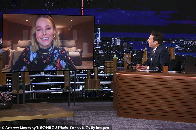 Bell said on last Wednesday's episode of The Tonight Show:'The new show is really cool because it talks all about how social media has changed us, and it's more risqué because it's on HBO Max, and there's a twist at the end of episode one that's really different'
