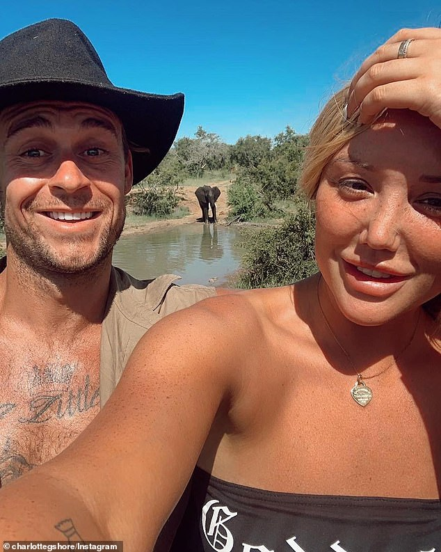 Telling clue: Charlotte previously appeared on the Australian version of I'm A Celebrity... Get Me Out Of Here! which is also produced by Warner Brothers and Channel 10. Pictured with her former co-star Ryan Gallagher
