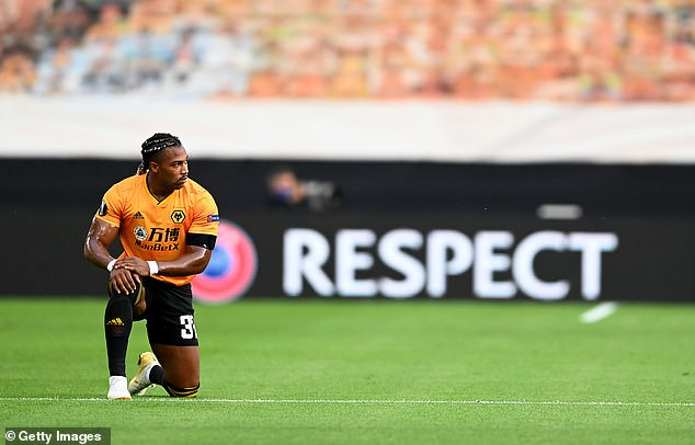 Winger Traore regularly took the knee for Wolves in the Premier League last season