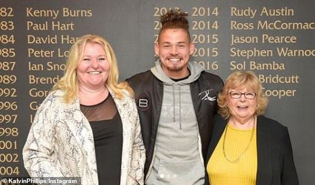 Phillips has spoken at length of the influence his mother Lindsey (left) and late grandmother Val (right) have had on him over the course of his life
