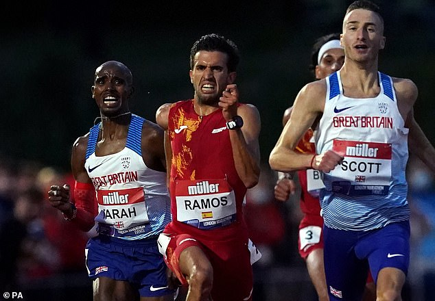 Farah finished 22 seconds short of the Olympic qualifying time during a race earlier this month