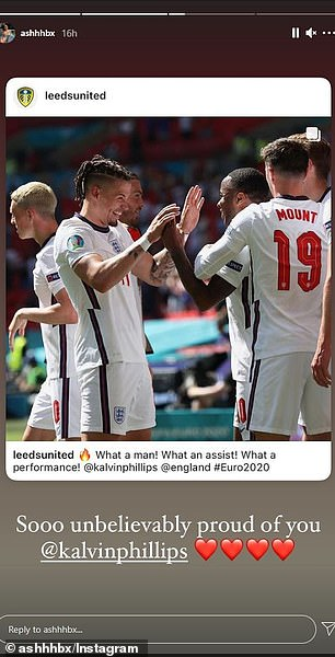 Behan took to Instagram to say how proud she was of Phillips after the Croatia game