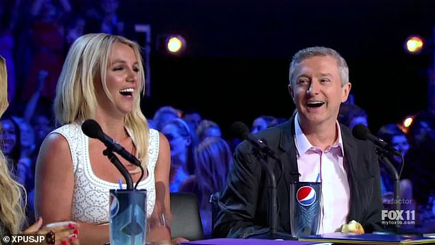 Claim: Louis Walsh has claimed Britney Spears was 'on so much medication' when she was a judge on X Factor USA in September 2012 (pictured together on the panel in 2012)
