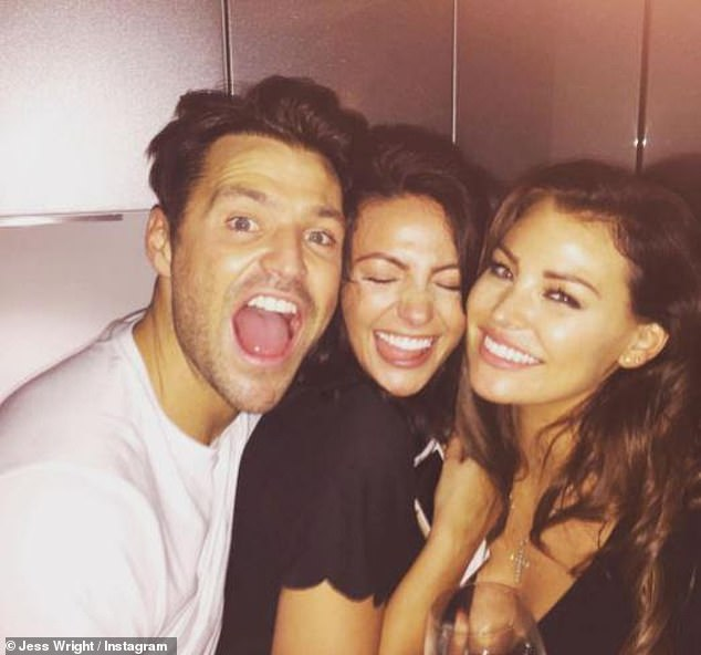 Famous family: Jess is the older sister of TV presenter Mark, 34, who is married to actress Michelle Keegan, also 34 (pictured together)