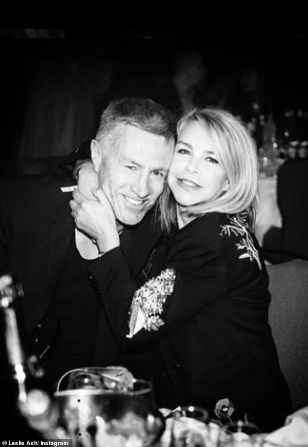 Long-term love:Leslie is married to former professional footballer Lee Chapman, and has been since 1988