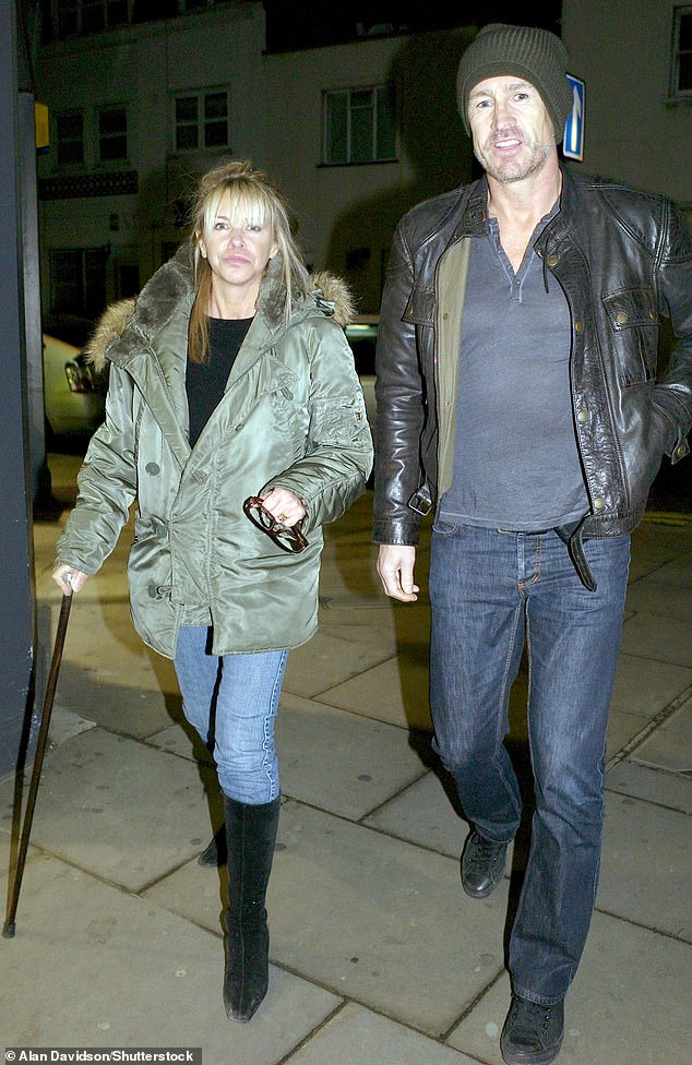 Long-term love:Leslie is married to former professional footballer Lee Chapman, and has been since 1988 [pictured 2008]