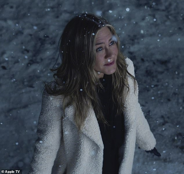 Long pause: The first season dropped November 1, 2019; here Aniston is seen in the snow