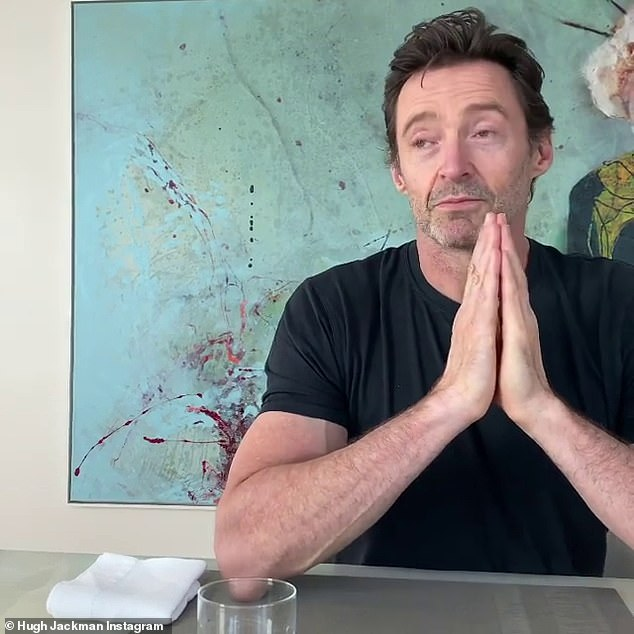 Sorry!: Hugh apologised to 'Sarah' for disclosing the details of their first kiss together. He then explained he made the 'classic rookie error' of telling all of his school mates beforehand that he was going to meet up with her