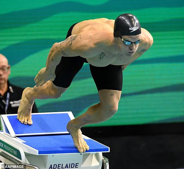 Celebrity coach: He trained under the watchful eye of Olympic swim coach Brett Hawke