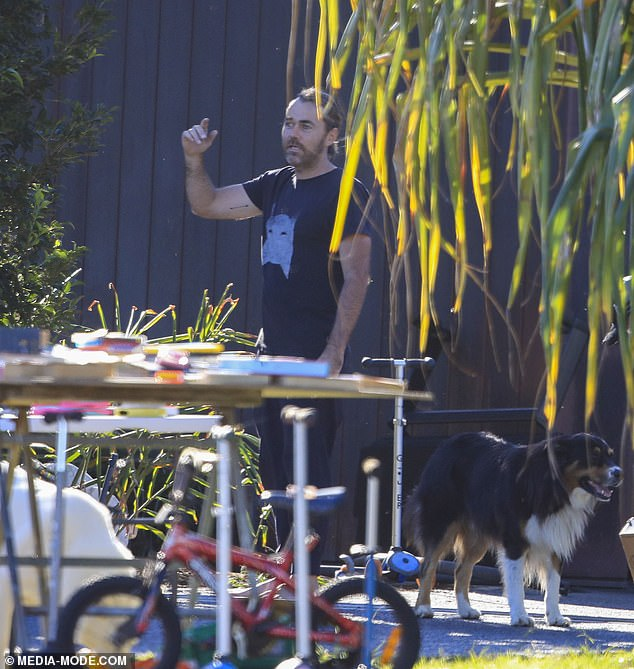 Hot sale!  Celebrity chef Shannon Bennett held a garage sale outside his multi-million dollar seaside home in Byron Bay this weekend
