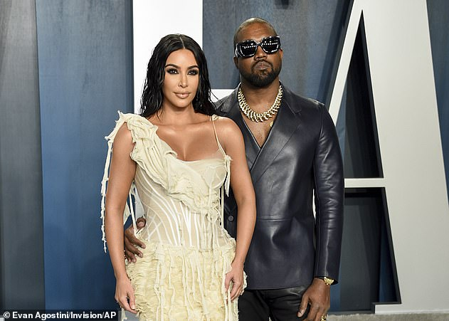 Divided: The sultry snap comes amid her ongoing divorce proceedings with Kanye West, 44, whom she officially filed for divorce in February (pictured in 2020)