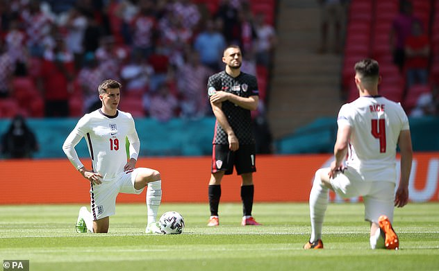 The majority of England fans inside Wembley stadium obeyed Gareth Southgate's pleas to respect players as they took the knee ahead of their opening Euro 2020 match against Croatia