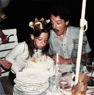 Mary with Paul on her tenth birthday