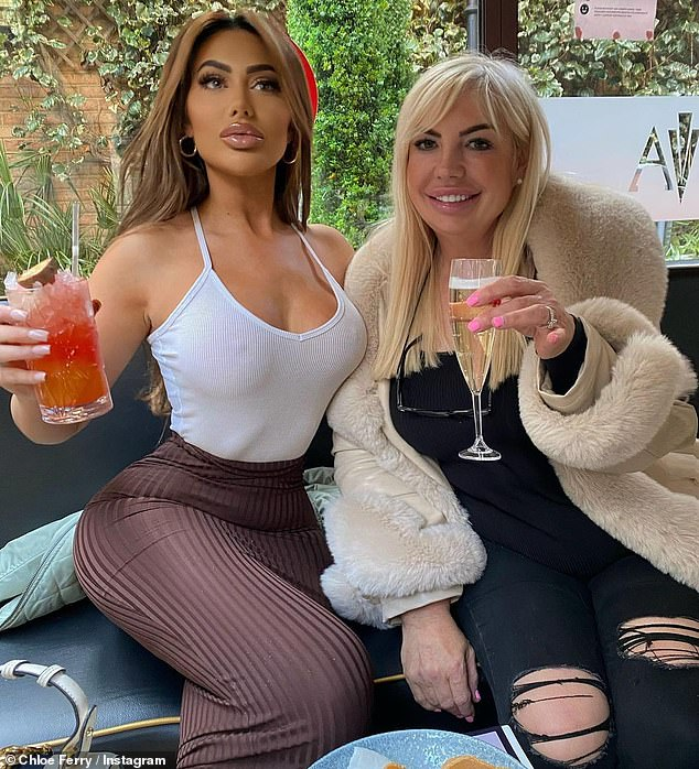 Yikes: The reality star, 25, was expected to return to the show today as a 'last-minute surprise', but her appearance was thrown into question amid claims she has been mixing with others (pictured with her mum Liz)