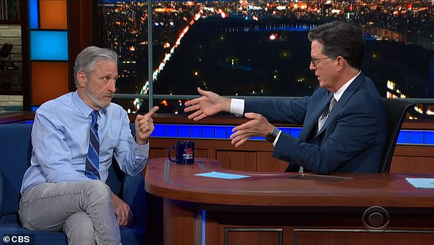 Comedian Jon Stewart said he was shocked by the 'pushback' he got for supporting the Wuhan lab-leak theory when appearing on 'The Late Show with Stephen Colbert' in June