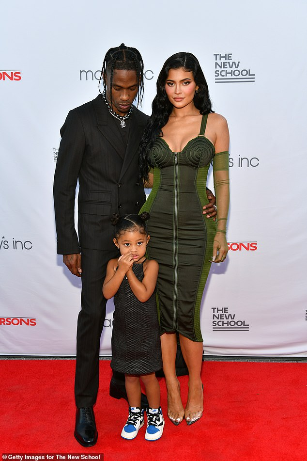 'I love you wifey': Travis Scott confirmed he's reconciled with Kylie Jenner as she jetted to New York with daughter Stormi to support him at the Parsons Benefit