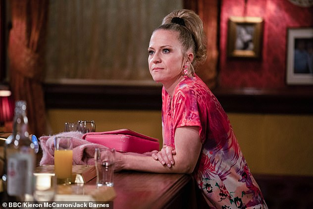 On Hold: Kellie is best known for her role as Linda Carter in EastEnders (photo from soap opera)