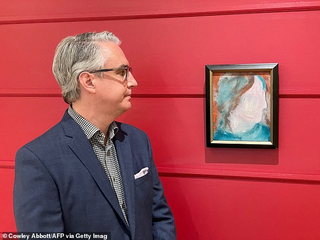 Rob Cowley, (pictured) president of Cowley Abbott, describes the painting as an 'abstract self portrait'
