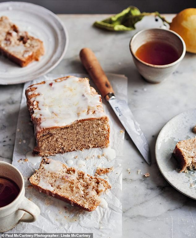 Weekend magazine picked out a selection of recipes from a new book of Linda McCartney's recipes - including lemon drizzle cake