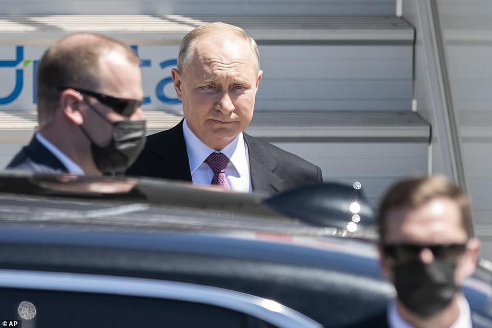 Russian President Vladimir Putin arrived in Geneva Wednesday afternoon for his summit with President Joe Biden