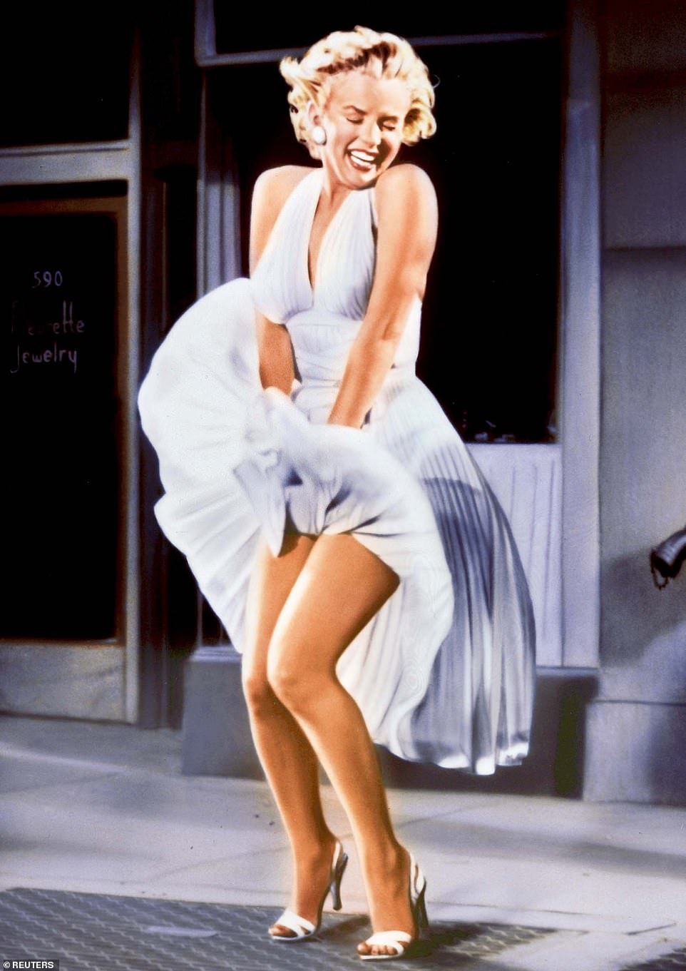 Iconic: Marilyn's famous moment occurred during the filming of The Seven Year Itch in 1954. The starlet's white dress flew off as she crossed a subway gate in Manhattan