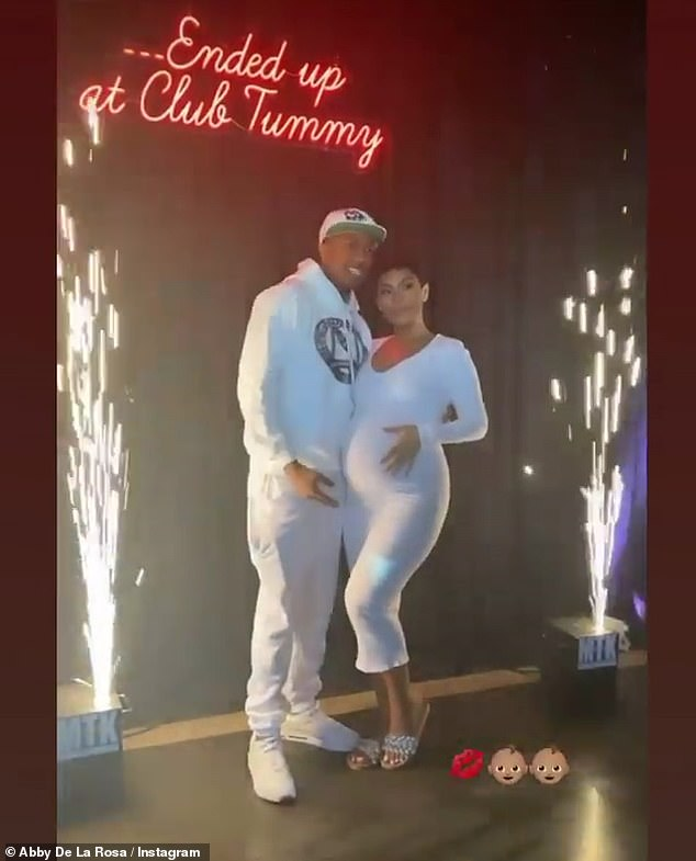 Club Tummy: The couple hosted a 'Club Tummy' themed baby shower at Yamashiro Hollywood
