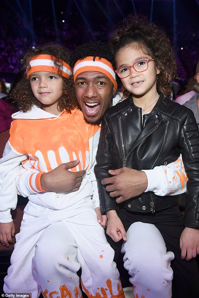 First children: the artist also shares twins Monroe and Moroccan, 10, with his ex-wife Mariah Carey;  2018 photo