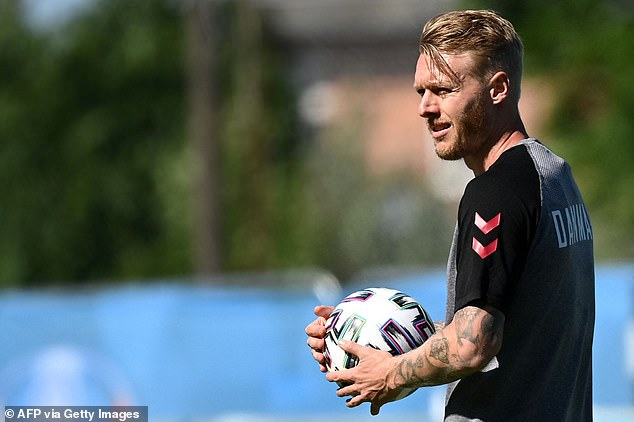 Denmark captain Simon Kjaer paid a touching tribute to Eriksen in the hours before kick-off