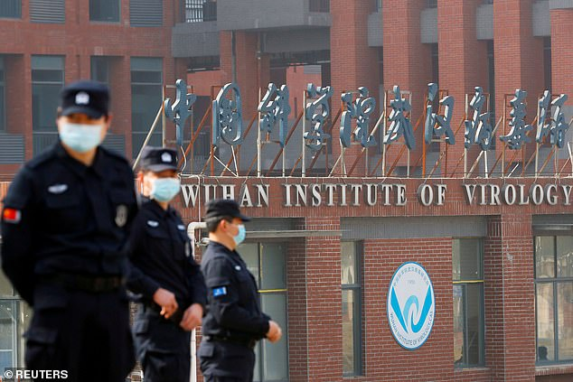 Trump said he was convinced that COVID-19 escaped from the Wuhan lab (pictured). He said he believed it was an accident, driven by incompetence, rather than a deliberate spreading of the lethal virus