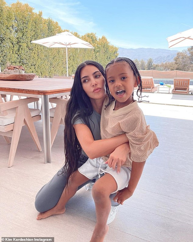 Saint: Saint was the last of Kim and Kanye's children to be taken in without the use of a surrogate - a topic that was discussed in depth in the May 13 episode of the hit reality show of the family Keeping Up With The Kardashians;  pictured on May 7