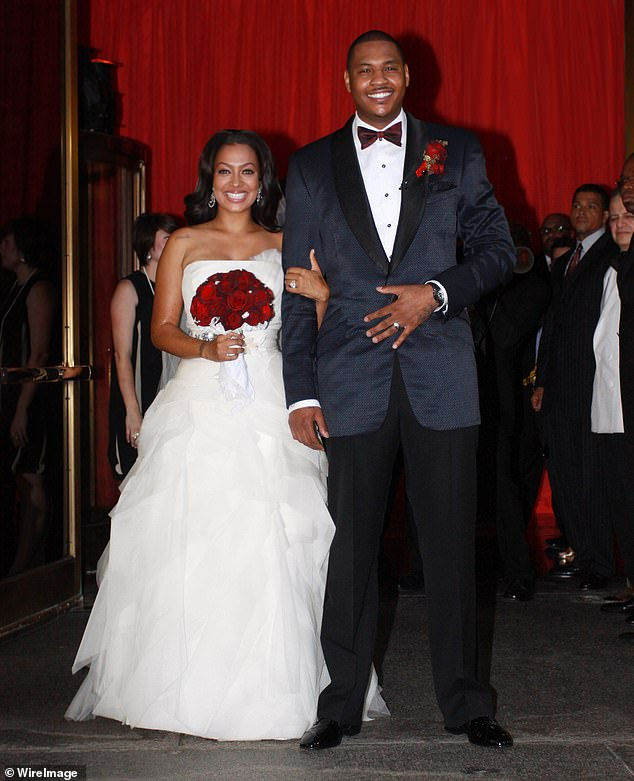 Wedding Bells: La La (née Vasquez) and Carmelo Anthony get married at Cipriani 42nd Street on July 10, 2010 in New York City