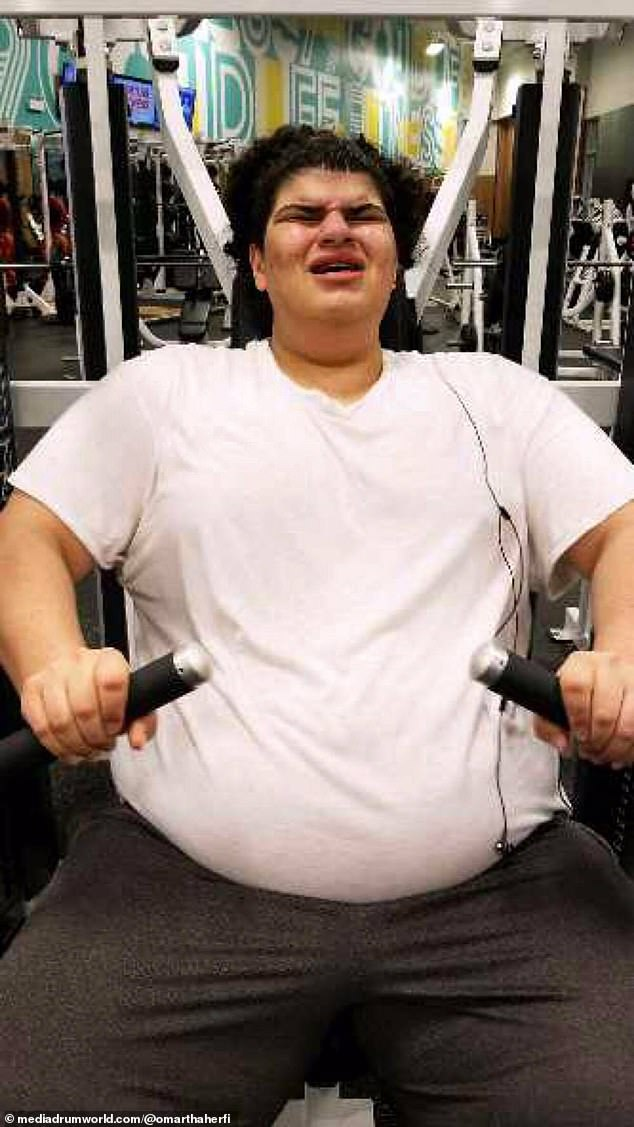 Hard to handle: By the time he was 19 years old, he weighed 438 pounds and wore a 5XL shirt