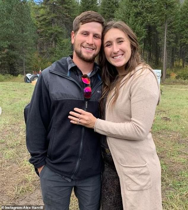 Alex Harvill is survived by his wife, Jessica, who he is pictured with on Instagram