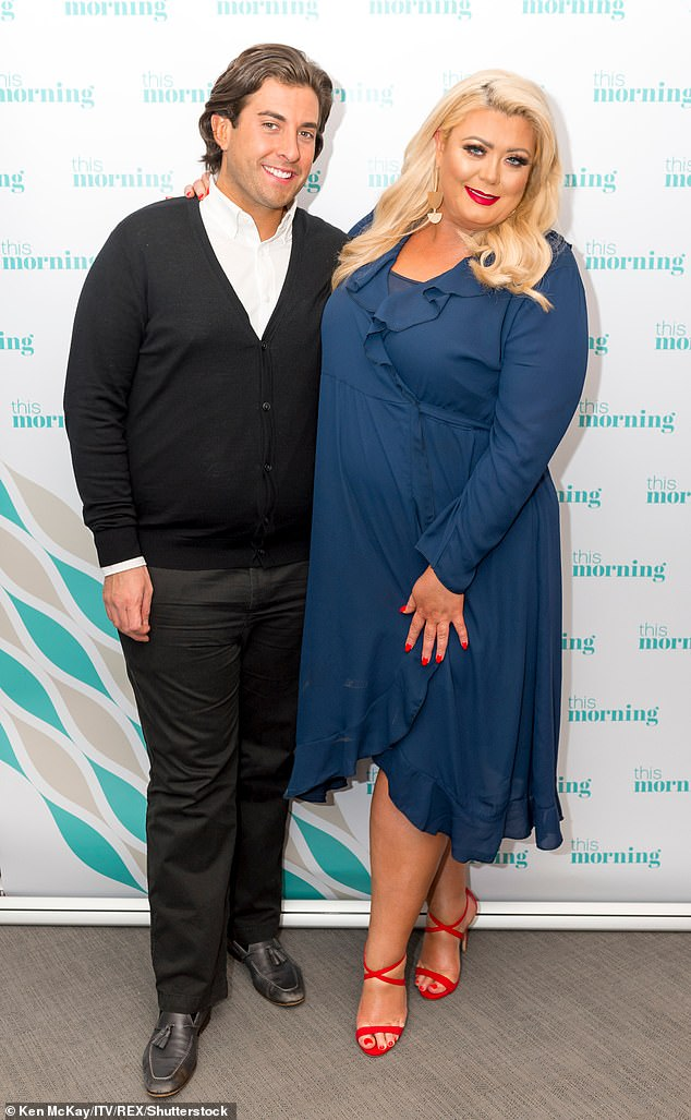 No time for romance: However, James' impressive fitness journey means he's had 'less time to meet someone', with the reality star's last known relationship being Gemma Collins, whom he split from last year (pictured in 2018)