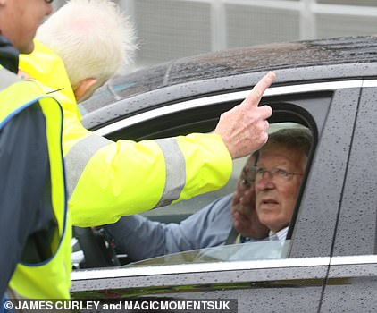 Sir Alex Ferguson was directed away from the VIP parking area at Wembley upon arrival