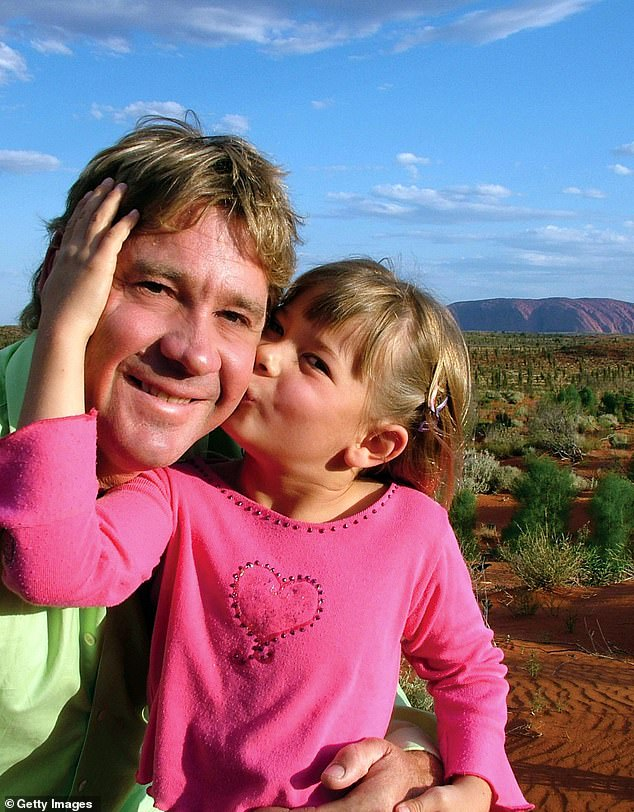 Tribute:Steve died tragically 14 years ago when Bindi was eight years old. The Crocodile Hunter was pierced in the chest by a stingray barb in 2006