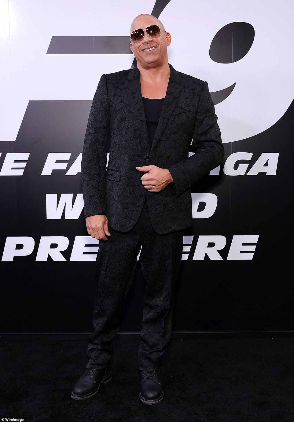 Big day: The franchise has been led by Vin Diesel over the years and he showed up in a detailed suit