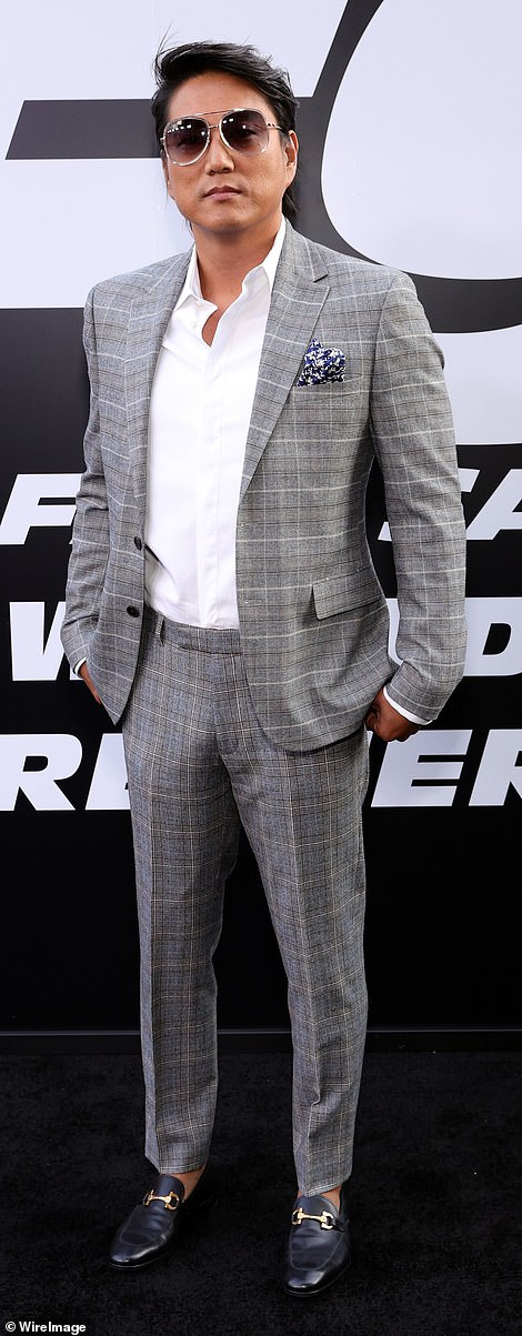Dapper: Finn Cole and Sung Kang looked dapper in their finest suits for the premiere