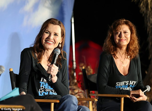 Answering questions: A Q&A with Geena and Susan took place before the film