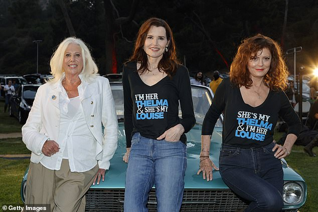Also present: Screenwriter Callie Khouri (left), who won an Oscar for Best Original Screenplay for the movie back in 1992