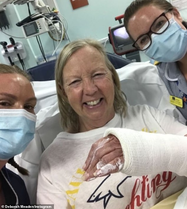 Get well soon!Deborah Meaden has revealed she has fractured her wrist after a horse injury as she shared a picture of her arm in a cast while at A&E to Instagram on Friday