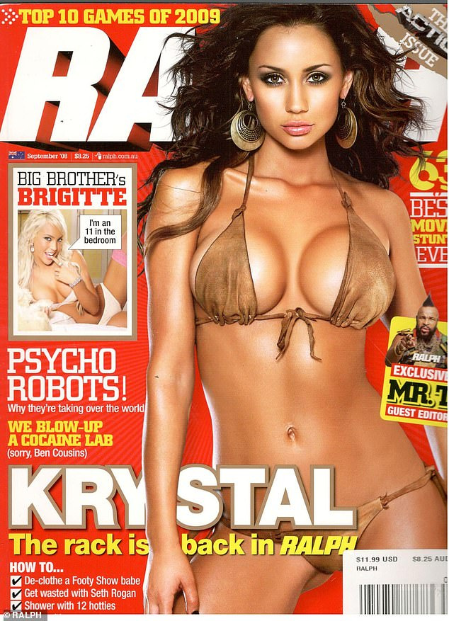 Cover Girl: After starring in Big Brother, Krystal invested in breast augmentation and went on to pose for several boy magazines, including Zoo Weekly and Ralph