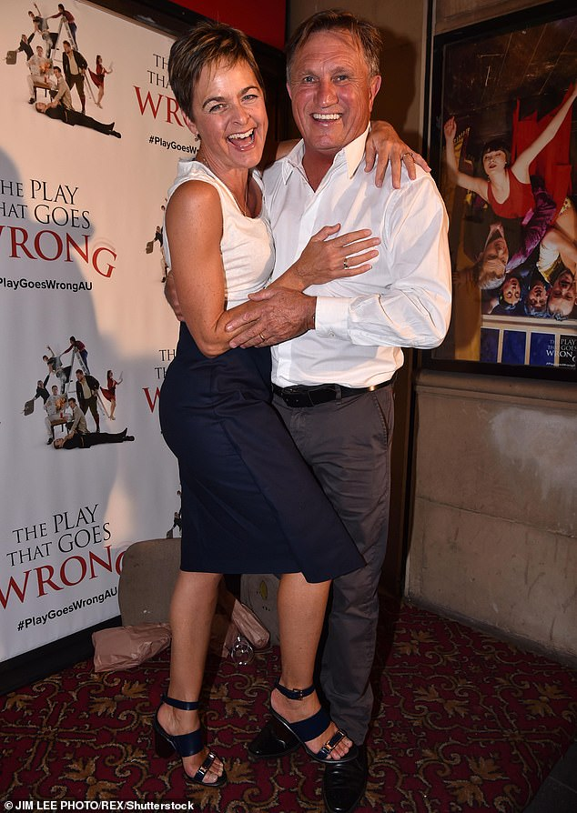 Love story: Frankie landed a role in A Country Practice before marrying his co-star and now wife Michelle (pictured) in 1999.