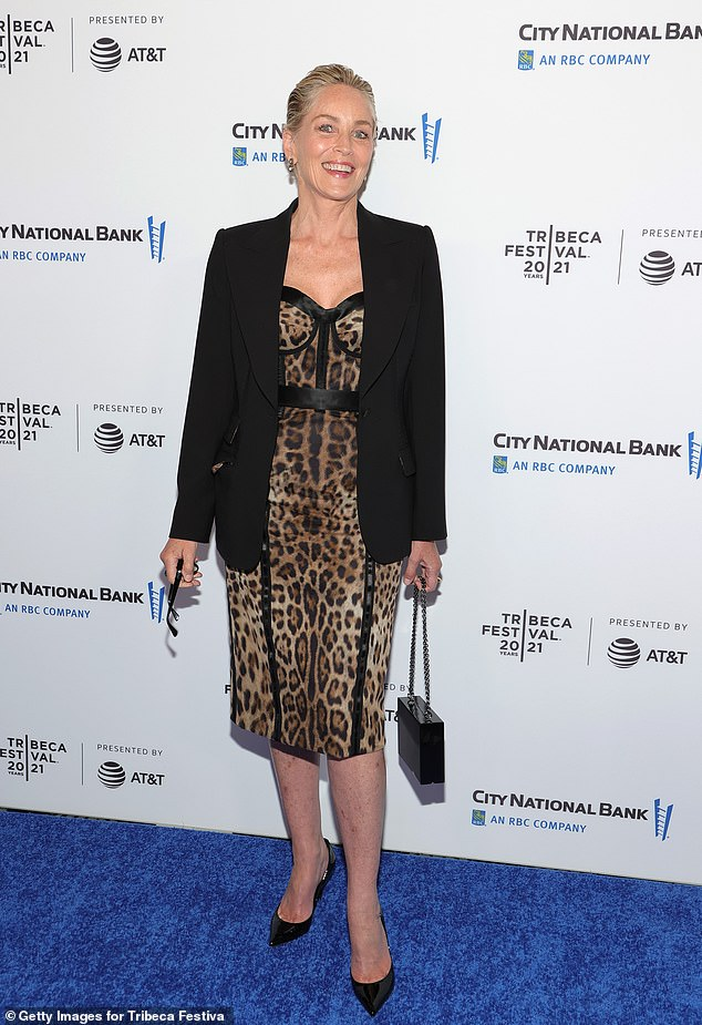 Lady of Hollywood: Sharon Stone was on hand to attend the Untitled: Dave Chappelle documentary premiere during the 2021 Tribeca Film Festival on Saturday night in New York City
