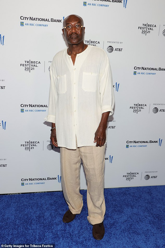 From Get Shorty: Veteran Hollywood actor Delroy Lindo also showed up at the event, wearing a loose white silk shirt and beige linen pants