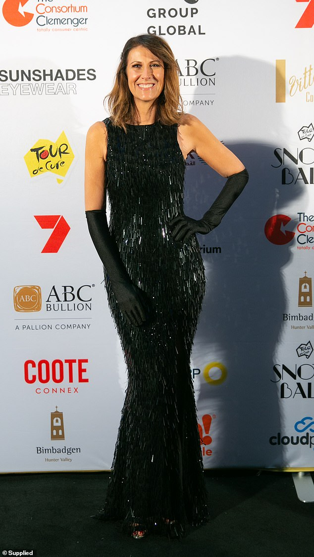 Wow!  Natalie Barr ditched the corporate look on Saturday night, instead sporting her most glamorous 1920s outfit for the annual Tour De Cure charity event in Sydney