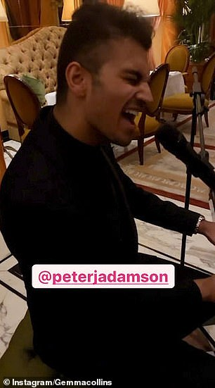 Video: The 40-year-old personality took to her Instagram story on Saturday night to share the video of herself duetting with Peter J. Adamson