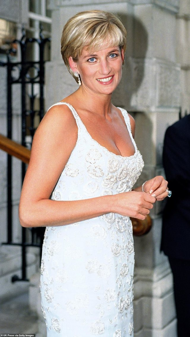 Diana The Princess Of Wales Attends A Gala Reception & Preview Of Her 'Dresses Auction' At Christies In London